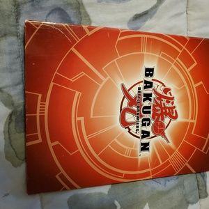 Bakugan folder with cards